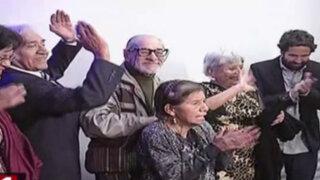 Protagonistas de película 'Viejos amigos' visitaron asilo Canevaro