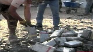 Trujillo: descubren tres toneladas de cocaína camufladas en rocas de carbón