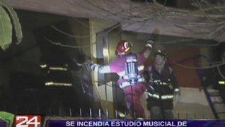 Se incendió estudio musical de sonidista de Pedro Suárez Vértiz