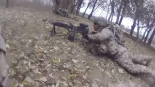 Afganistán: cámara registra combate entre soldados y talibanes