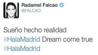 Falcao asegura que no escribió mensaje en Twitter diciendo que se iba al Real Madrid