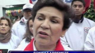 """Nora Bonifaz: postulante de Somos Perú llama """"narcocandidato"""" a Castañeda"""