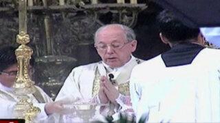 Cipriani ofició misa en la Catedral por Aniversario de la Policía Nacional