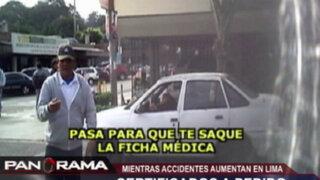 Certificados a pedido: mafia se enriquece mientras accidentes aumentan en Lima