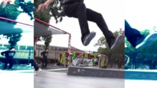 VIDEO: joven graba en 'slow motion' increíbles maniobras en su skate