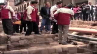 Hallan muro y escalinata inca cerca de Centro Histórico del Cusco