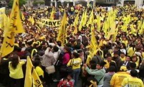 Así fue la marcha de Solidaridad Nacional contra tacha del JEE