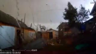 VIDEO: sorprendentes imágenes desde el interior de un huracán