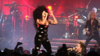 Lady Gaga sorprende cantando con integrantes de la banda Queen
