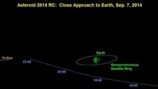 """2014 RC: asteroide de 20 metros pasará """"muy cerca"""" a la Tierra este domingo"""