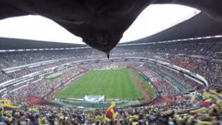 México: águila graba su espectacular vuelo sobre el estadio Azteca