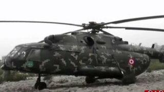 Helicóptero del Ejército se enredó con cables y aterrizó de emergencia en Ñaña