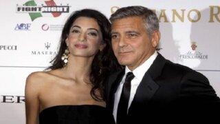 George Clooney se casó con Amal Alamuddin en Venecia