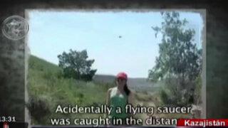 Fotografía revela extraño objeto volador en cielo de Kazajistán