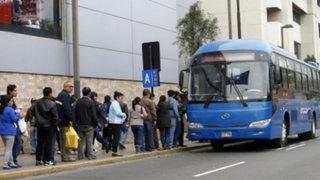 68% de limeños desaprueba el servicio del Corredor Azul