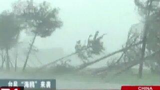 Tifón 'Kalmaegi' continúa azotando el sudeste de China