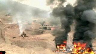 Policía destruye maquinaria de minería ilegal en Puente Piedra