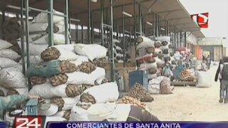 Comerciantes del Mercado Mayorista de Santa Anita paralizaron sus labores