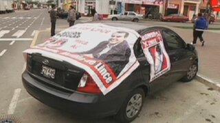 Paneles electorales inundan las calles de Lima a poco de las elecciones