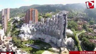 Colombia: realizan demolición de edificios residenciales por fallas estructurales