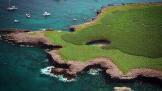 FOTOS: mira el paraíso que dejó la detonación de algunas bombas en esta isla