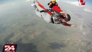 Terror en el aire: paracaidista inexperto casi muere en primer salto