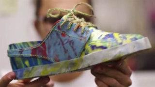 """VIDEO: son cómodas, baratas y duraderas, las """"Zapatillas hechas de basura"""""""