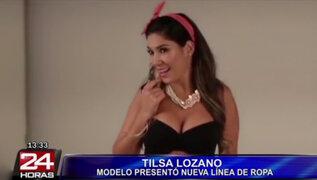 Tilsa Lozano presentó su propia línea de ropa con candente video