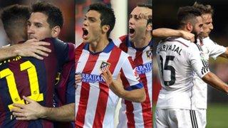 Barcelona, Real Madrid y el Atlético llegan enchufados a la Champions League