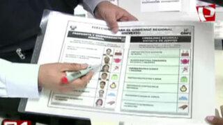 Onpe presenta cédula de sufragio para elecciones regionales y municipales