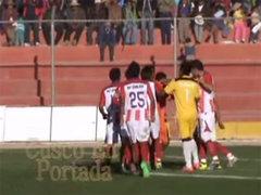 VIDEO: esta insólita celebración de gol desató bronca en la Copa Perú