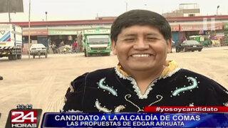 Edgar Arhuata: candidato a alcaldía de Comas promete limpiar el distrito