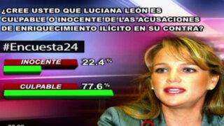 Encuesta 24: 77.6% cree que Luciana León es culpable de enriquecimiento ilícito