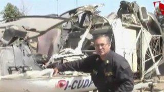 Tujillo: Policía halló helicóptero siniestrado hace dos meses