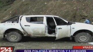 Vraem: dos policías muertos y cinco heridos dejó ataque narcoterrorista