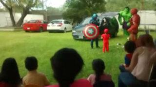 VIDEO: 'El desastroso Hulk' mata de risa a los niños en una fiesta