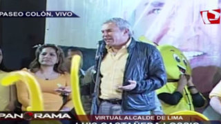 Luis Castañeda Lossio dio discurso a sus seguidores en Paseo Colón