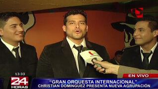 Christian Domínguez presentó a integrantes de la 'Gran Orquesta Internacional'