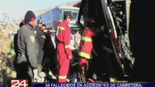 Provincias: 34 muertos en accidentes de carretera durante jornada electoral