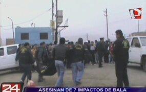 Asesinan de siete balazos a cobrador de combi en Ancón