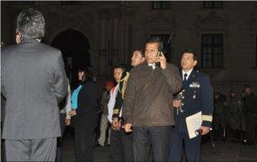 Presidente Ollanta Humala participó en simulacro nacional de sismo y tsunami