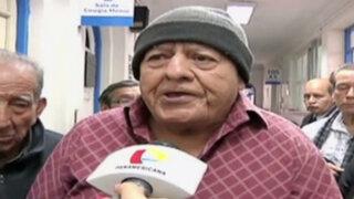 Jubilados protestaron ante inminente desalojo de policlínico Ancije