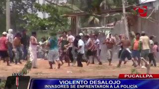 Violento desalojo en Pucallpa dejó cinco detenidos y más de 20 heridos