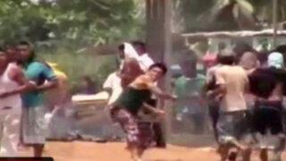 Pucallpa: invasores y policías se enfrentan durante desalojo