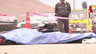 Policía muere atropellado en la carretera Ramiro Prialé