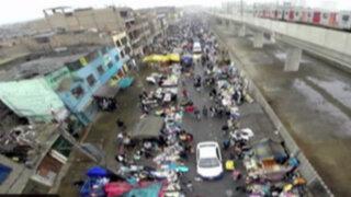 Drone de Panamericana: así mantienen la avenida Aviación los ambulantes
