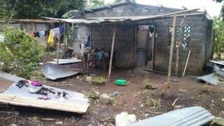 Al menos 20 techos fueron arrasados por fuertes vientos en Amazonas