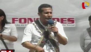 Presidente Ollanta Humala destaca programas sociales de su gobierno