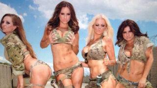 VIDEO: sensuales modelos vestidas con diminutos trajes militares desatan polémica