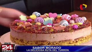 Sabor Morado: presentan Turrón de Doña Pepa en helado y cheesecakes
